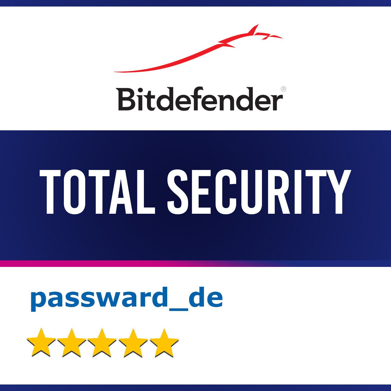 Bitdefender Total Security 2020 (1-10 PC / Geräte) 1, 2 und 3 Jahre