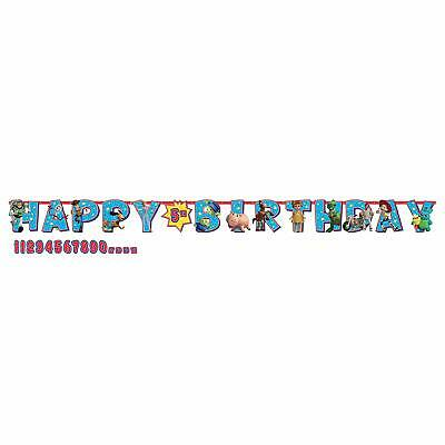 Disney Toy Story 4 - Add an Age Happy Birthday Jumbo Letter Banner Kit  - Toy Story Decorations
