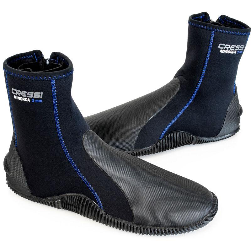 Cressi Minorca Tall 3mm Dive Boots Black / Blue