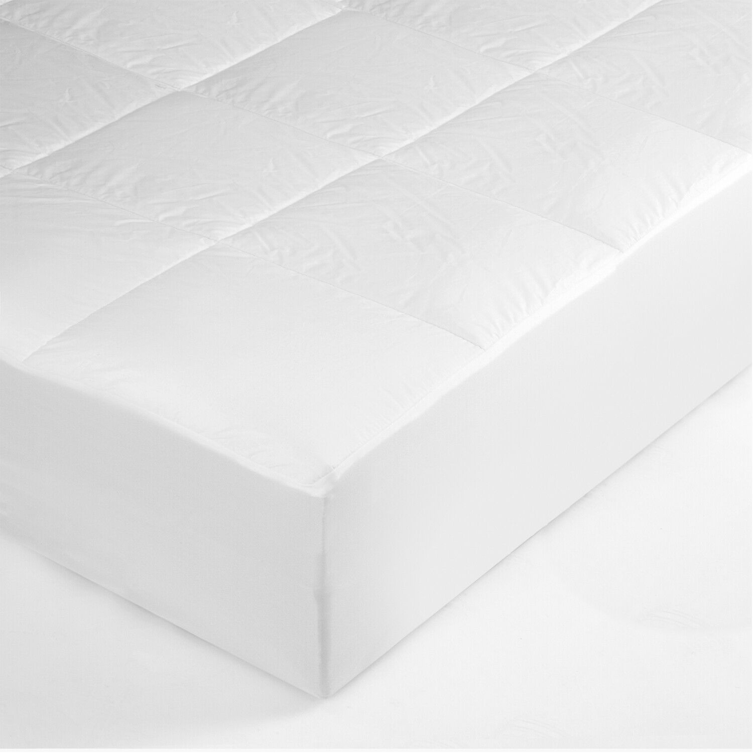 Bedding Quilt Cooling White Mattress Topper Mattress Pad Cov