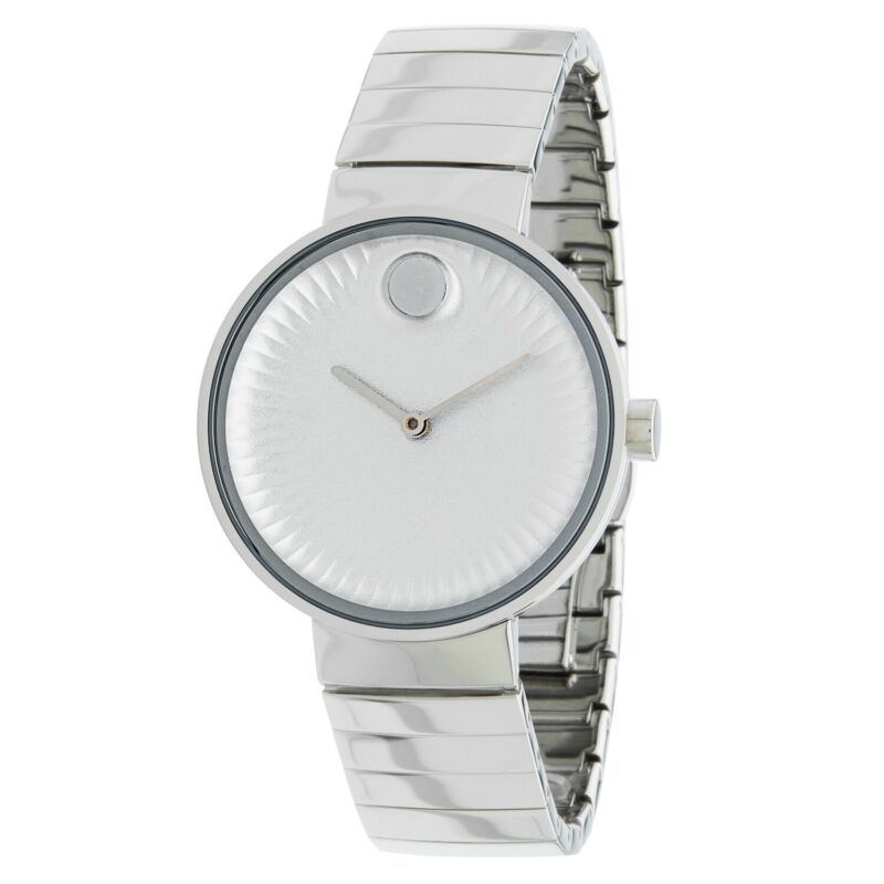 Movado 3680012 Women Edge Silver Concave Sandblasted Aluminum Quartz Watch
