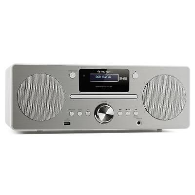 Micro Stereoanlage USB DAB+ Digitalradio CD Player UKW Tuner Lautsprecher Wecker