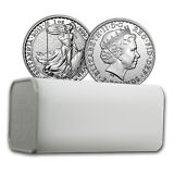 2015 Great Britain 1 oz Silver Britannia BU (Lot, Roll, Tube of 25) - SKU #91814