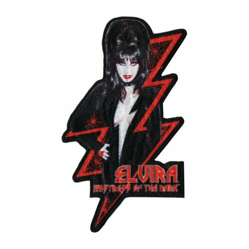 Elvira Patch Iron On Mistress Dark Vampire Horror Monster Movie Collectible Gift