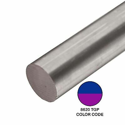 8620 Tgp Alloy Steel Round Rod 0.635 Inch X 12 Inches