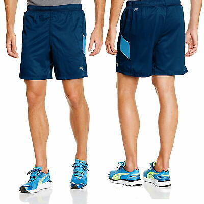 PUMA Essentials Poseidon 7 Inch Running Shorts Men's Blue Shorts CLEARANCE SALE
