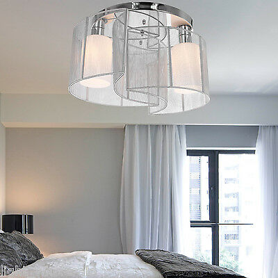 (Contemporary Crystal Chandelier Ceiling Fixture2 Lamp Pendant Lighting NEW)