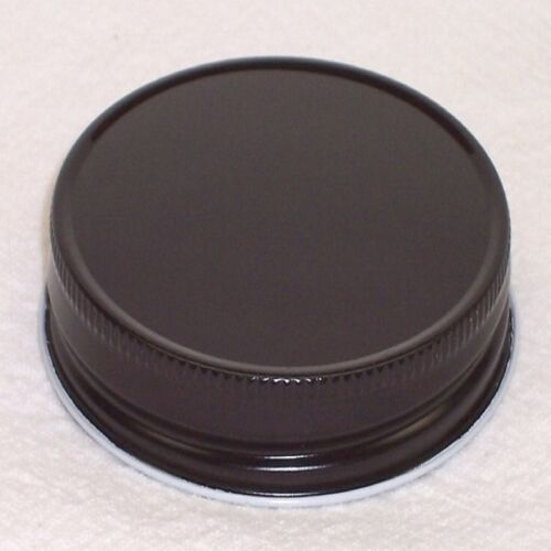 BLACK LIDS FOR STANDARD CANDLE MASON STYLE JAR G70 CT PACK OF 12 PCS