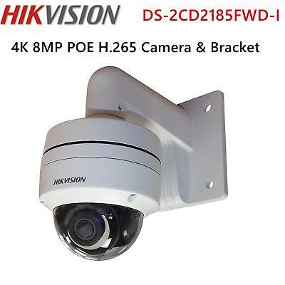 HIKVISION 4K 8MP DS-2CD2185FWD-I & Mount Bracket Security IP Smart Camera Home