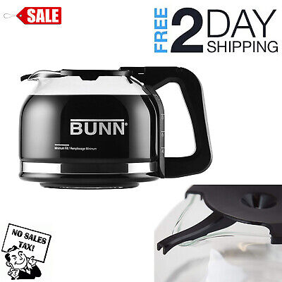 Replacement Carafe for Bunn Coffee Maker Decanter Drip Free 10 Cup Glass Pot 10 Cup Coffee Carafe