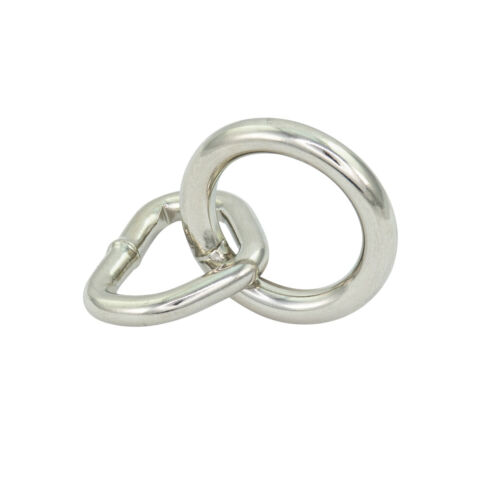 Silver Small 28mm Bondage Rings – Single - StudsAndSpikes