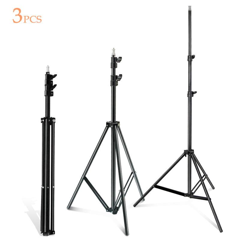 "86"" Studio Adjustable Lightweight Umbrella Light Boom Tripod Stand 3 Pack"