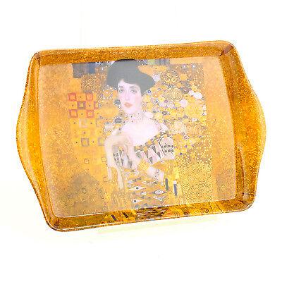Gustav Klimt Lady Design Melamine Small Rectangle Coffee Snack Food Serving Tray