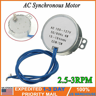 Tyc-50 Synchronous Synchron Motor Torque Ac 100-127v 2.5-3rpmmin 4w 5060hz Usa