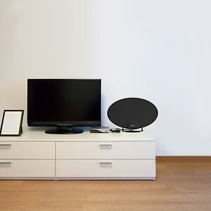 Long Range HDTV Indoor Flat Antenna Amplified VHF UHF Digital TV HD 70 Miles