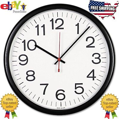 Universal Indoor/Outdoor Clock, 13 1/2-Inch, Black (11381) Analog Wall Clock