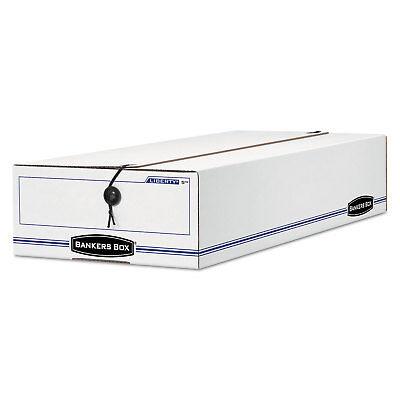 Bankers Box Liberty Storage Box Card Size 6 X 23 14 X 4 14 Whiteblue 12
