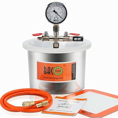 Bacoeng 5.7l Stainless Steel Vacuum Chamber Container Degassing Moudling Casting