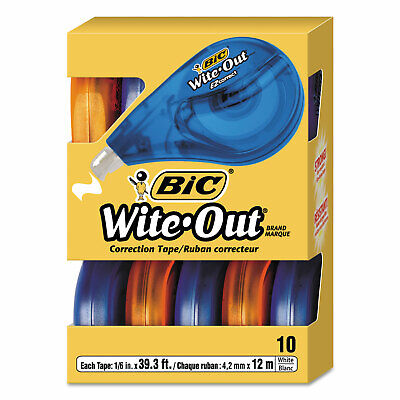 Wite-out Ez Correct Tape Correction Tape 10 Pack White Out Bic Whiteout