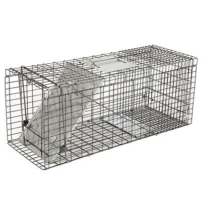 32 Live Animal Trap Extra Large Rodent Cage Garden Rabbit Raccoon Cat Metal