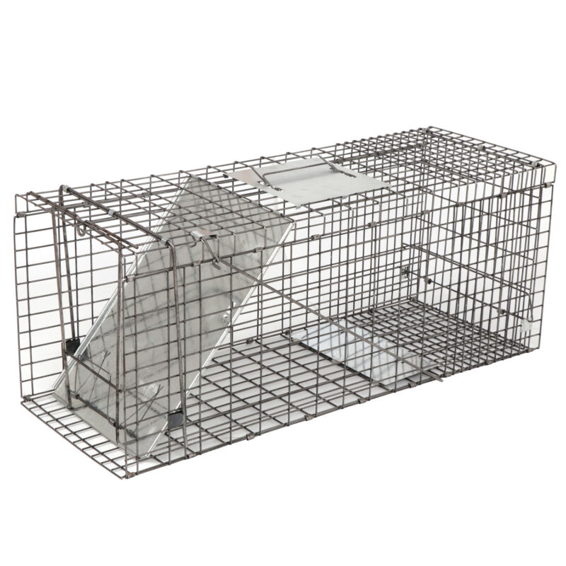"""32"""" Animal Trap Steel Cage Humane  for Live Rodent Control Rat Squirrel Raccon"""