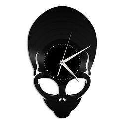 Alien Vinyl Wall Clock Unique Gift for Friends Home Room Anniversary Decoration