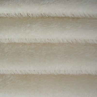 "1/6 yd 300S White INTERCAL 1/2"" Ultra-Sparse German Mohair Fur Fabric"