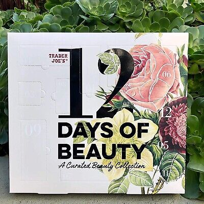 Trader Joe's 12 Days Of Beauty A Curated Collection Holiday Advent Calendar new