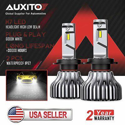 2X AUXITO H7 LED Headlight High Beam for Hyundai Azera Elantra Genesis Sonata