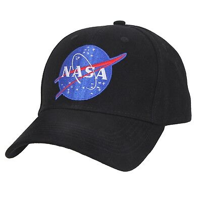 NASA Black Low Profile Baseball Cap Space Hat Ballcap Rothco 3798