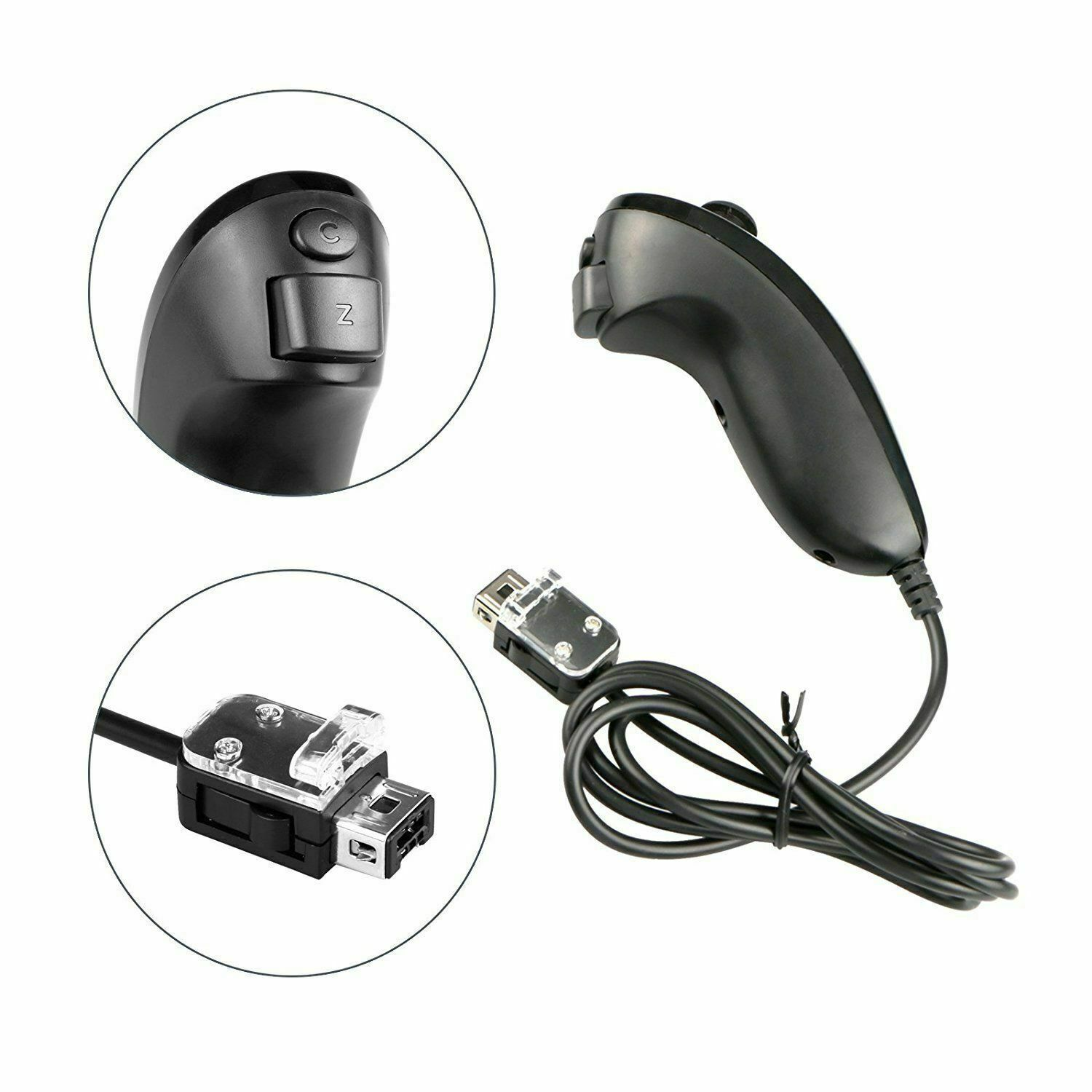 Remote Nunchuck Controller Built in Motion Plus Wireless For Nintendo Wii /Wii U