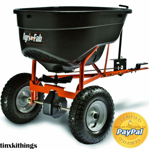 Tow Behind Broadcast Fertilizer Spreader Acreage Lawn Garden Seed Planting Tool