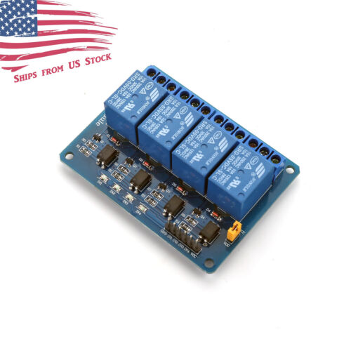4 Channel 5V Relay Module 250V 10A Relays for Arduino and Automation US