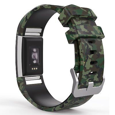 Classic Green Camo Wristband Strap Band Bracelet Accessories for Fitbit Charge - Green Accessories