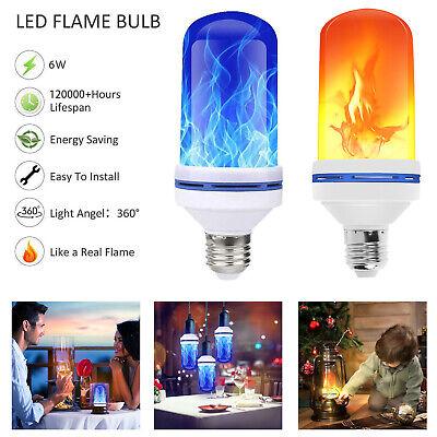 E27 Flame Effect LED Light Bulb Flickering Fire Emulation Xmas Decorative Lamp ()