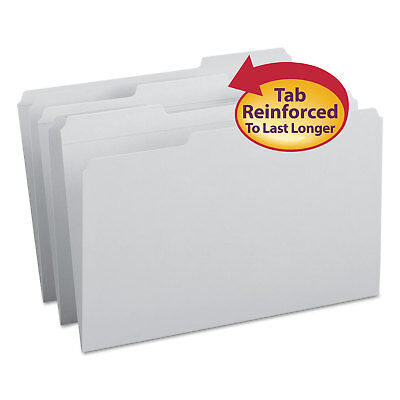 Smead File Folders 13 Cut Reinforced Top Tab Legal Gray 100box 17334