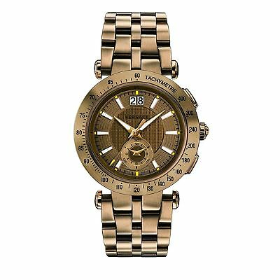 Versace VAH060016 Men's V-RACE Bronze-Tone Quartz Watch