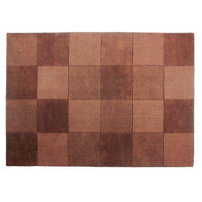 Flair Rugs Quadrate Schokolade 100% Wolle Teppich 100cm (99.1cm) x 160cm (160cm) ()