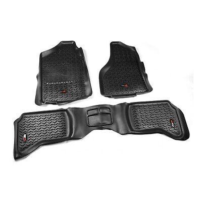Black Rugged Ridge - Rugged Ridge Front/Rear Floor Mats DODGE RAM 1500 Quad Cab (2002-2011) Black