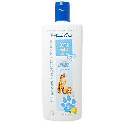 Magic Coat Tearless Cat Shampoo - Four Paws Magic Coat Tearless Shampoo 12 oz | Gentle Formula for Cats & Kittens