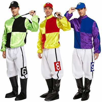 Funny Adult Hard Rider Horse Jockey Mens Fancy Dress Stag Party Costume Outfit](Jockey Costumes)