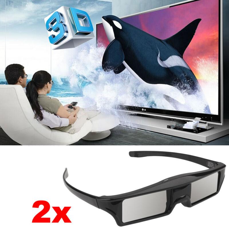 2x 3D Active Shutter Glasses for 3D TV  Samsung Panasonic Sharp and EPSON TW9300
