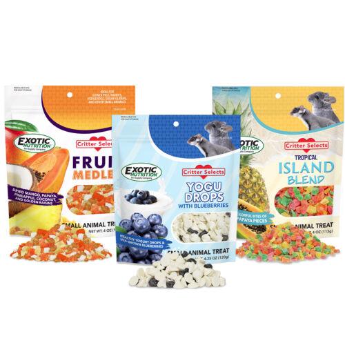 Treat Assortment (3 Pack) - Small Animal Treats - Sugar Glider Hedgehog & More