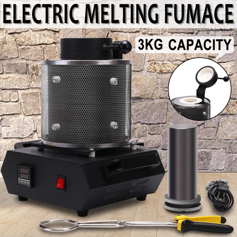 110V 3KG Gold Digital Refining Melting Kiln Furnace  Gold Al