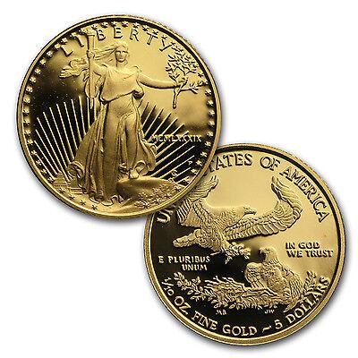 1/10 oz Proof Gold American Eagle (Random Year, Capsule Only) - SKU #35500