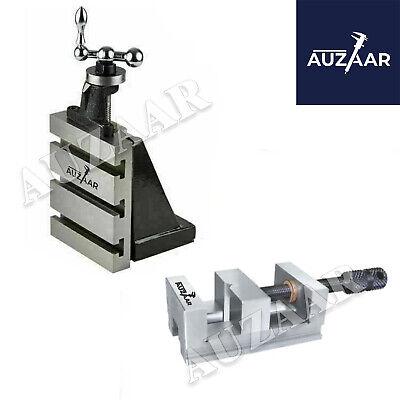 Lathe Vertical Milling Slide 4 X 5 Fixed Base 85mm Steel Vice Grinding Vise