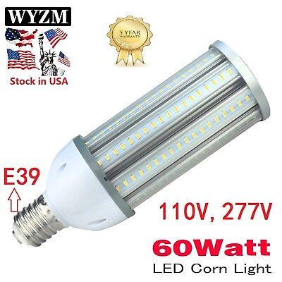 2Pack 60W Mogul E39 LED Corn Bulb Light Replacement MH400/U 400Watt Metal (400 Watt Mogul Bulb)