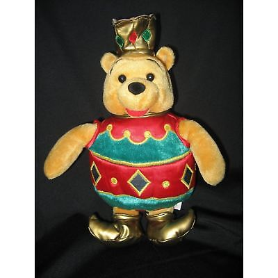 "DISNEY LARGE 10"" WINNIE THE POOH PLUSH BELL CHRISTMAS TREE ORNAMENT GIFT NEW"