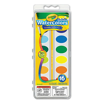 Crayola Washable Watercolor Paint 16 Assorted Colors - Crayola Watercolor