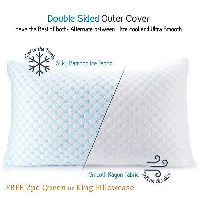 Cooling Memory Foam Pillow - Ventilated Soft Bed Pillow Infused with Cooling Gel Foam Bed Pillow